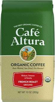 Cafe Altura Organic Coffee, French Roast, Ground, 10 oz (283 g)  - купить со скидкой