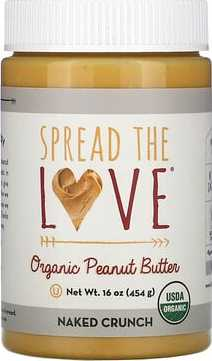 Spread The Love Organic Peanut Butter, Naked Crunch, 16 oz (454 g)  - купить со скидкой