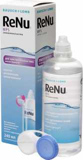Купить Раствор ReNu ™ Multi-Purpose Solution 240 мл + контейнер, Bausch + Lomb