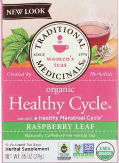 Купить Women's Teas, Organic Healthy Cycle, Caffeine Free Herbal Tea, 16 Wrapped Tea Bags, .85 oz (24 g)