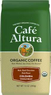 Купить Cafe Altura Organic Coffee, Colombia, Dark Roast, Whole Bean, 10 oz (283 g)