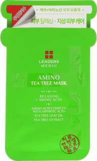 Купить Leaders Mediu, Amino Tea Tree Mask, 1 Sheet, 25 ml