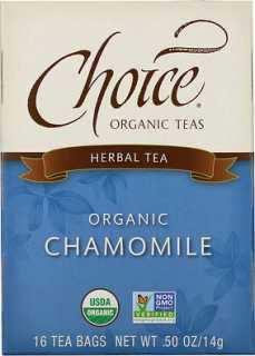 Купить Choice Organic Teas Herbal Tea, Organic Chamomile, Caffeine-Free, 16 Tea Bags, .50 oz (14 g)