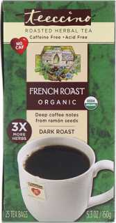 Купить Organic Roasted Herbal Tea, French Roast, Dark Roast, Caffeine Free, 25 Tea Bags, 5.3 oz (150 g)