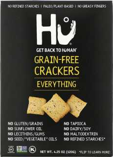 Купить Hu Grain-Free Crackers, Everything, 4.25 oz (120 g)