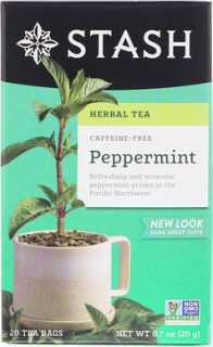 Купить Herbal Tea, Peppermint, Caffeine Free, 20 Tea Bags, 0.7 oz (20 g)