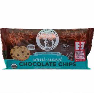 Купить Equal Exchange Organic, Chocolate Chips, Semi-Sweet, 55% Cacao, 10 oz (283.5 g)