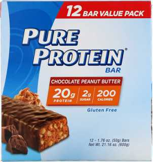 Купить Pure Protein Bar, Chocolate Peanut Butter, 12 bars, 1.76 oz (50 g) Each