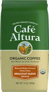 Купить Cafe Altura Organic Coffee, Breakfast Blend, Medium Roast, Ground, 10 oz (283 g)