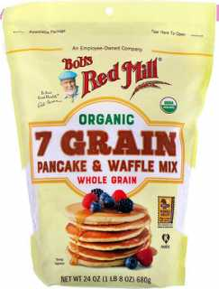 Купить Bob's Red Mill Organic 7 Grain Pancake & Waffle Mix, Whole Grain, 24 oz (680 g)