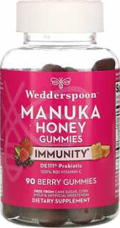 Купить Wedderspoon Manuka Honey, Immunity Gummies, Berry, 5 Billion CFU, 90 Gummies