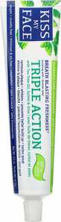 Купить Kiss My Face Triple Action Toothpaste with Tea Tree Oil, Xylitol & Aloe, Fluoride Free, Cool Mint Gel, 4.5 oz (127.6 g)
