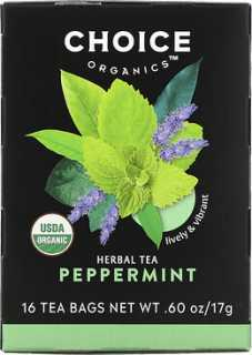 Купить Choice Organic Teas Herbal Tea, Organic Peppermint, Caffeine-Free, 16 Tea Bags, .60 oz (17 g)