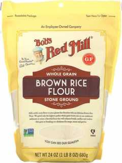 Купить Bob's Red Mill Brown Rice Flour, Whole Grain, 24 oz (680 g)