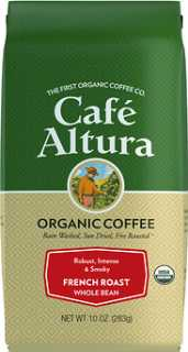 Купить Cafe Altura Organic Coffee, French Roast, Whole Bean, 10 oz (283 g)