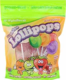 Купить Sugar-Free Lollipops with Xylitol, Assorted Flavors, Approximately 25 Lollipops (9.3 oz)